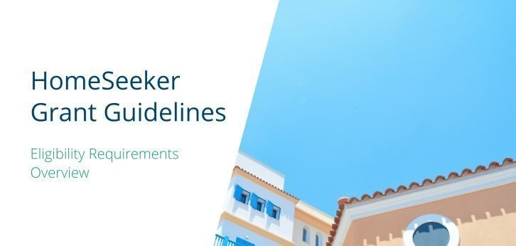 NJ HomeSeeker Grant Guideline Eligibility Overview
